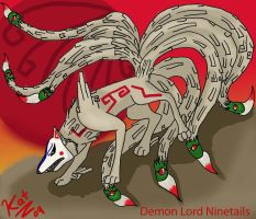 Demon Lord Ninetails by DireDragoness