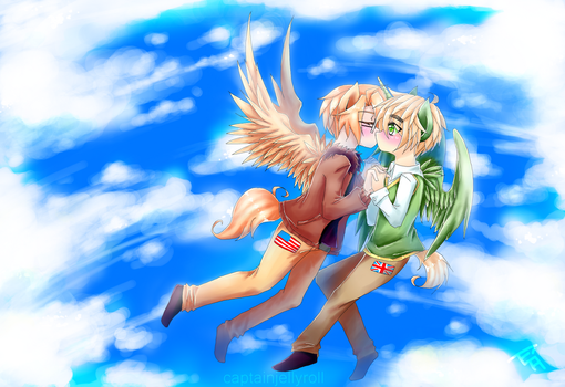 pony usuk :: flying lessons //commish[+speedpaint] by CaptainJellyroll