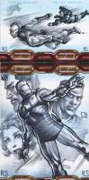 Iron Man 2 sketchcards Puzzles by ronsalas