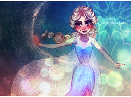 Frozen: Elsa the Queen by FROZENVIOLINIST