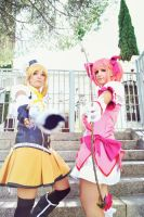 Madoka and Mami - Playing soldiers by ALIS-KAI
