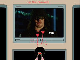 I watching the Arrow on TV by MrsCromwell
