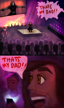 Just hanging w my dad at the payload by ferretsketch