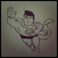 My Superman drawing by jeffthegamer