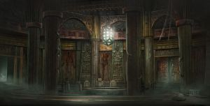 Dumac palace (Dagoth Ur) - Council chamber by lukkar