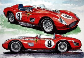 250TR - 2 views by ferrariartist