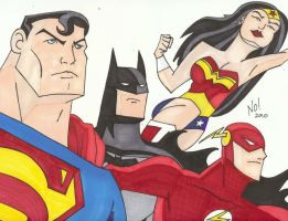 Justice League by nathanobrien