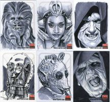 Star Wars Sketch cards! Egad! by SteveStanleyArt