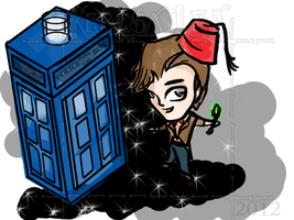 S: Doctor Who, Eleven and the Tardis by KeresaLea
