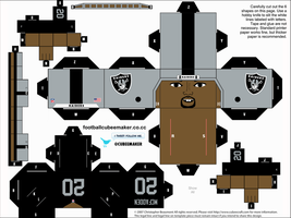 Darren McFadden Raiders Cubee by etchings13