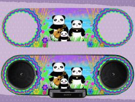 Pandas Making Music by taninohime