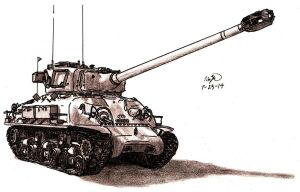 M-51 Super Sherman by TimSlorsky