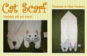 White Cat Scarf SOLD by Ishtar-Creations