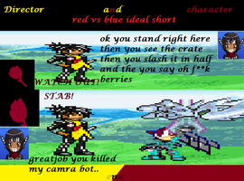 director and charactor in red vs blue short by jaquille1
