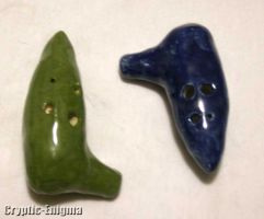 Blue and Green Ocarinas by Cryptic-Enigma