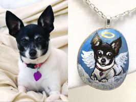 Custom Terrier Pendant Necklace by sobeyondthis