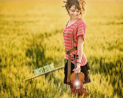 Lindsey Stirling simple wallpaper by KasiuCha