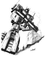 Optimus Prime-cover pencils by LivioRamondelli