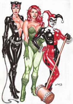 GOTHAM  CITY SIRENS, SALE ON E-BAY NOW !!! by carlosbragaART80