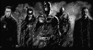 The Dark Knight Rises Characters Art by RedVirtuoso