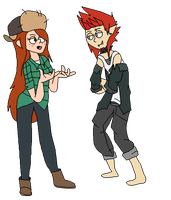Gravity Falls - Wendy and the wolf boy by TheFallingpiano