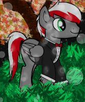 knight fire! in a suit by FireAndRose