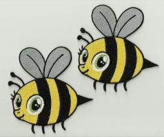 Sweetie Bee Embroidered Patches by Spaceguy5