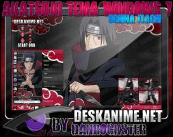 Uchiha Itachi Theme Windows 7 by Danrockster