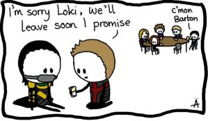 Loki and Hawkeye 'Hang Out With Friends' by IsleOfTwoMoons