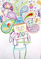 #100 100th doodle! by Doodle-of-the-day