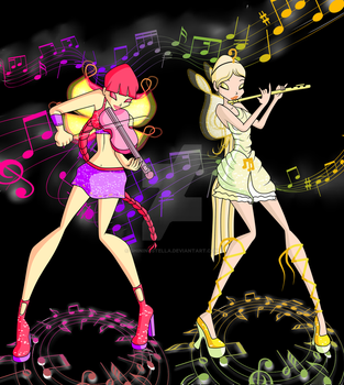 WSS Gift: Music Faeries by ShiningStella