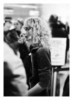 hanna at the airport. by fxcreatography