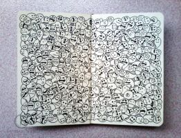 MOLESKINE DOODLES: Siblings by kerbyrosanes