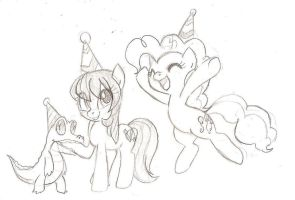 Partying Ponies by TheSassyJessy