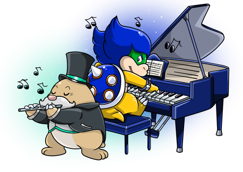 Commish: Musical Duel by Nintendrawer