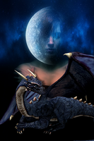 The Lady,the Dragon,and the moon by L-inda