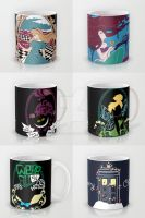 Mugs on Society6 by Anlarel