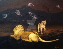 Lions and Doves by lisaackerman