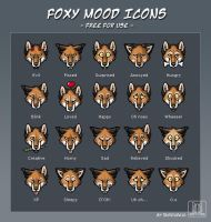 Foxy Mood Icons by TaniDaReal