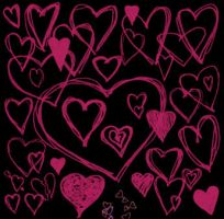 Scribble Hearts by batness