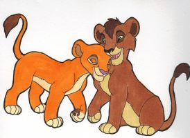 Kiara and Kovu Cubs by Kainaa
