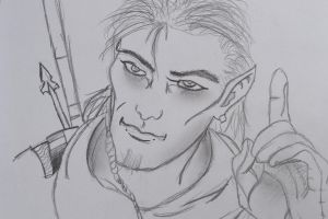 Another elf's face by Khirono