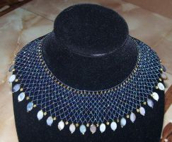 Large beaded collar 2 by ladytech