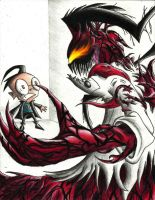 Invader Zim - Prof. Carnage by CindyCandy100