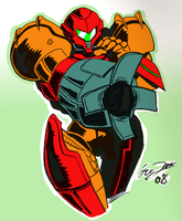 Samus Aran - SPACE WARRIOR by Brinstar