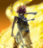 Fairy Tail-Natsu Golden Flame by chuefue337