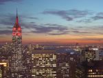 NYC sunset by Designdivala