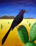 Great-tailed Grackle by darkphoenix7