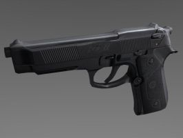Beretta low-poly by Benderxable