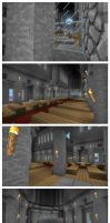 Minecraft Cathedral - Interior by andrei030